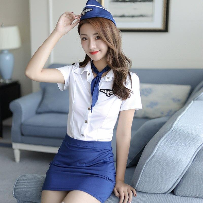 горячие японские стюардессы - 12