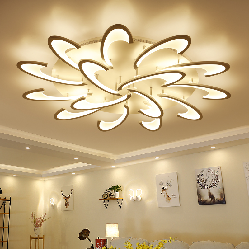NEW Acrylic thick Modern led ceiling chandelier lights for living room bedroom dining room home Chandelier lamp fixtures