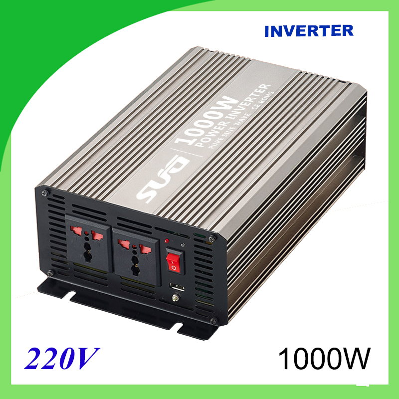 1000W pure sine wave solar power inverter DC 12V 24V to AC 110V 220V digital 1pcs lot sh b17 50w 220v to 110v 110v to 220v