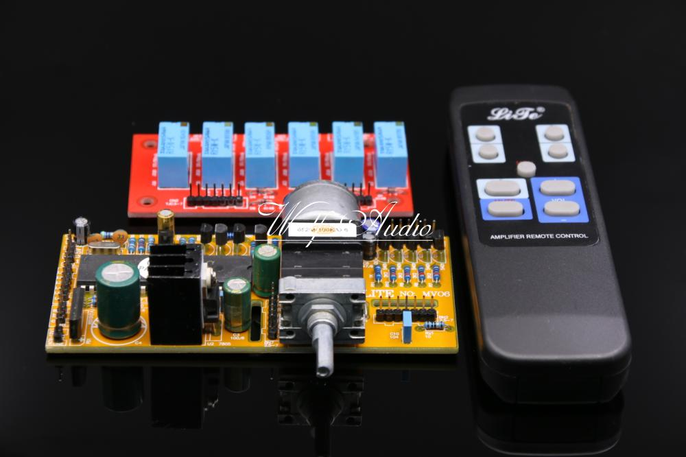 SENGTERBELLE HiFi MV06 Six-Channel Remote Control Volume Board (ALPS Motor Potentiometer) For Modern Home Theater 5.1 Channel free shipping 6 way m62446 5 1 channel volume remote control preamplifier kit for dc motor use