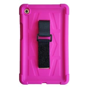 Image 4 - MingShore 견고한 아이 친화적 인 충격 방지 실리콘 커버 케이스 화웨이 MediaPad M5 8.4 인치 SHT AL09 SHT W09 태블릿