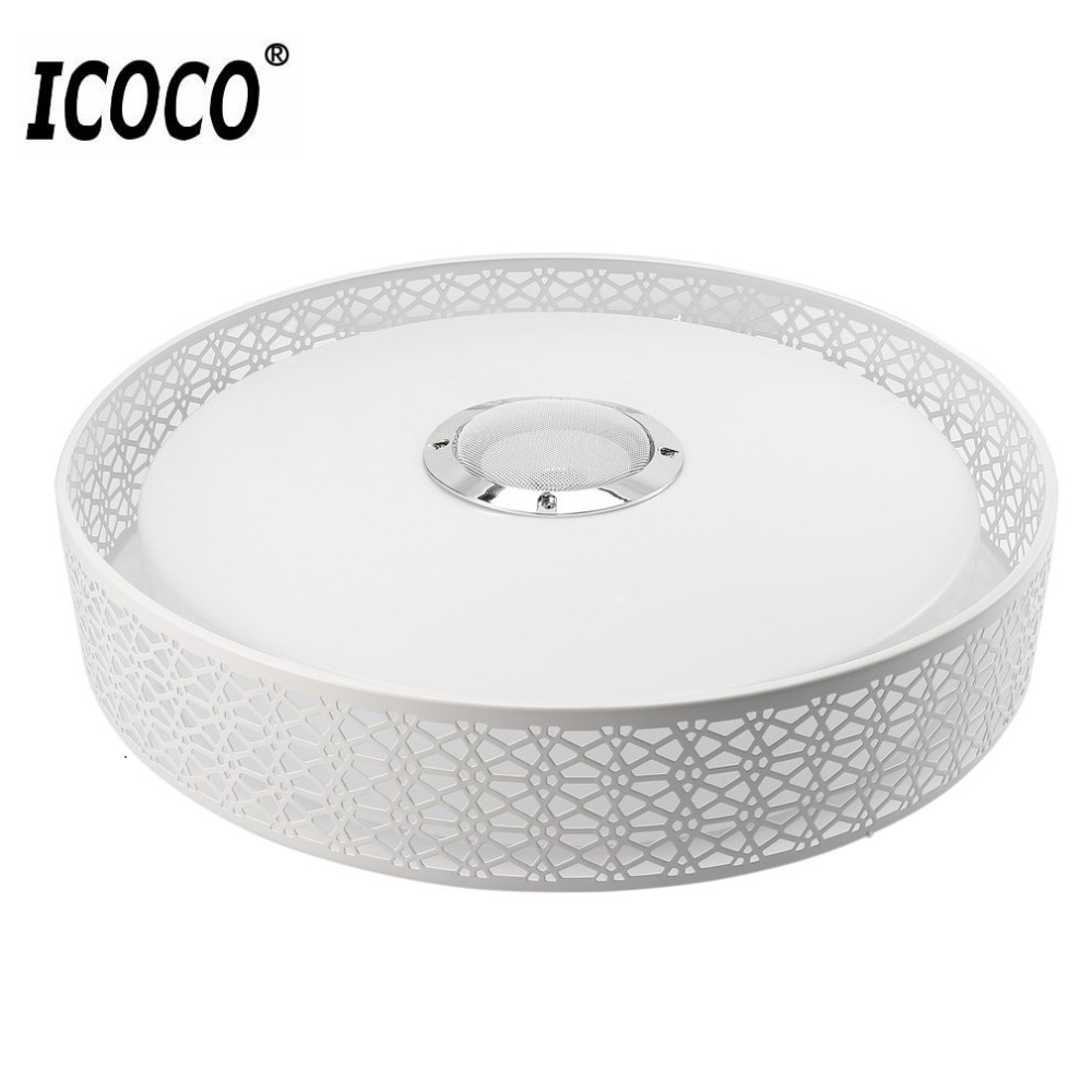 ICOCO Smart Music LED Ceiling Light Bluetooth 4.0 Control Music & Color Changing Surface Mounted Lamp with Timer APP Control стоимость