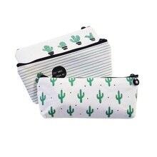Lote de 20 unidades de estuche de tela para lápices de Cactus, suministros escolares, Kawaii Stationer, caja de lápices estuche, venta al por mayor