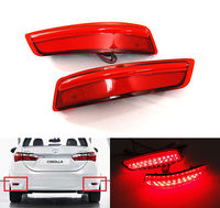 2X Red Lens LED Bumper Reflector Rear Tail Brake Stop Light 2012 2015 For Lexus ES