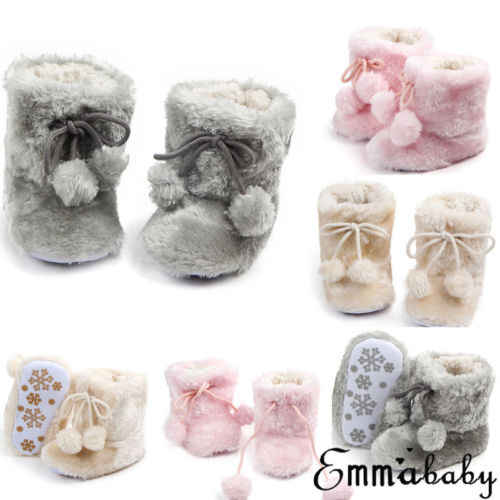 Fashion Leuke Baby Kid Meisje Winter Warm Fleece Knit Sneeuw Boot Laarsjes Crib Casual Schoenen 0-18 M