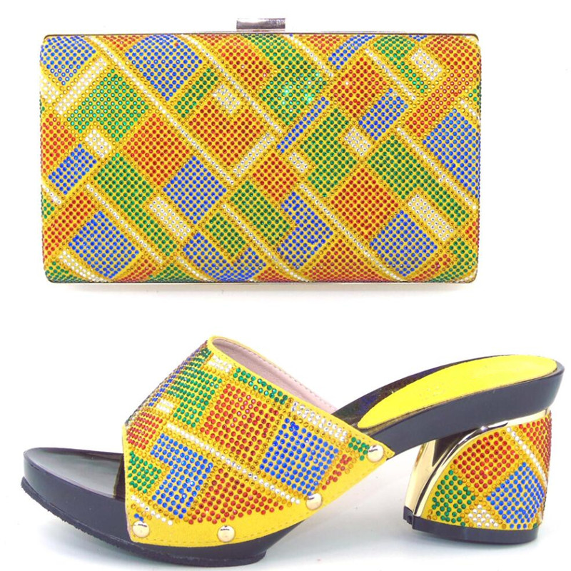 ФОТО Good Looking Ladies Shoes And Bags To Match Set High Quality Shoes And Bag For Italian Design  !MWE1-42