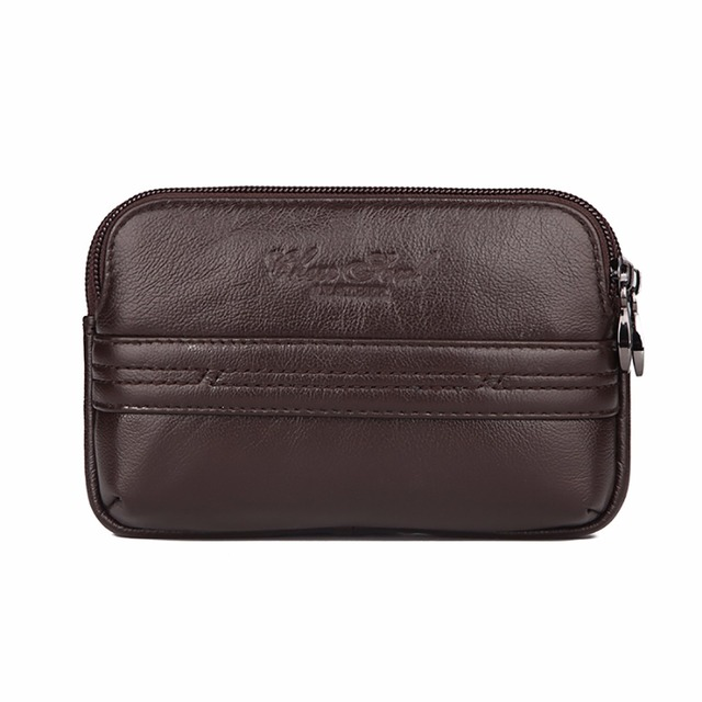 High Quality Real Genuine Leather Men Waist Bag Male Hip Bum Cowhide Fanny Pack Mobile Cell Phone Case Skin Belt Bag Purse Pouch