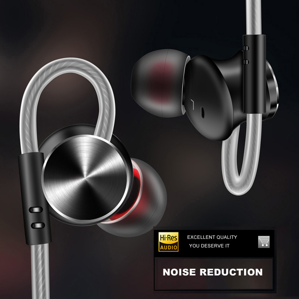 Brave Metal Stereo Earpiece Hifi Super Bass Headset Sport Running Earphone With Mic Fashionable Luxury Low Dostorion Hi-fi Sound