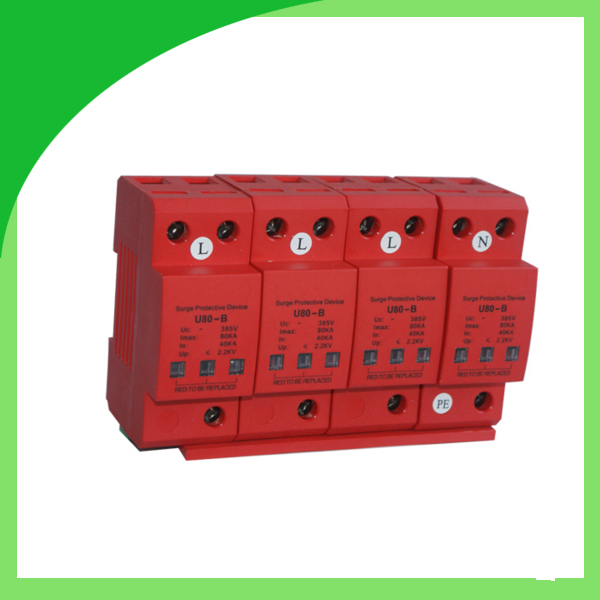 U80-B 275V 385V 420V 80ka 4pole Surge Protector Surge Arresters Transient Voltage Surge Suppressor велосипед rock machine surge 20 2013