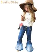 Moda trausers denim jeans dla dzieci dziewczyny dżinsy zgrywanie blue bebe ciepłe dziewczynka powtórka boot cut spodnie jeans skinny jeansy dla dzieci nowy