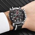 Relogio Masculino LIGE Herren Uhren Top marke Luxus Quarz Silber Uhr Männer Casual Leder Militärische Wasserdichte Sport Armbanduhr|Quarz-Uhren|   -