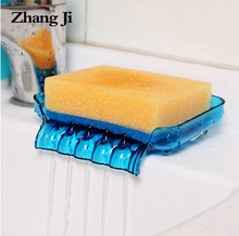 Waterfall Plastic Soap Dish Bathroom Accessories Drain Soap Box Shower Soap Holder Draining Kitchen Sink Sponge Holder  ZJ121