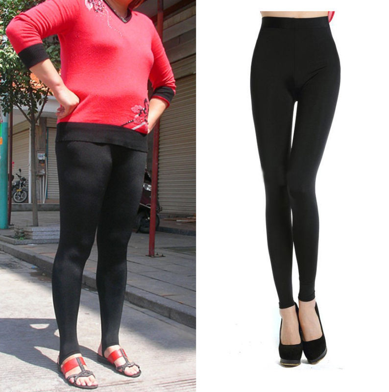 details about bamboo plus big size leggings stirrup pants