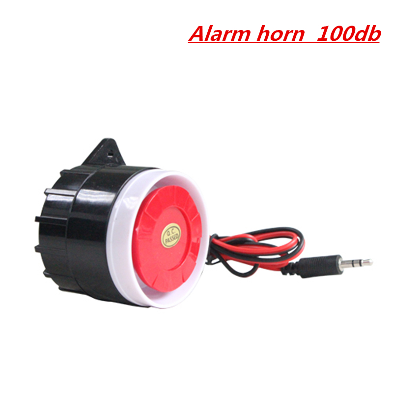 Alarm Horn for Home Alarm Security System wholesale accessory 100dB wired MINI siren horn 12vdc motor driven air raid siren metal horn for industry boat alarm ms 390