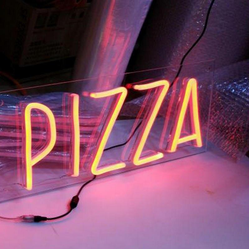 coffee pizza shop name flex neon sign board