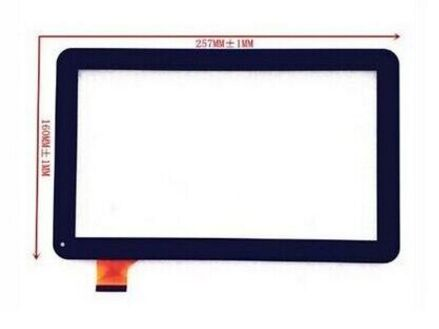 New 10.1 inch touch screen for Perfeo 1032-3G digitizer glass sensor panel repacement