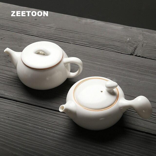 Weiße Teekanne japanischen stil teekanne kung fu set boutique handgemachte