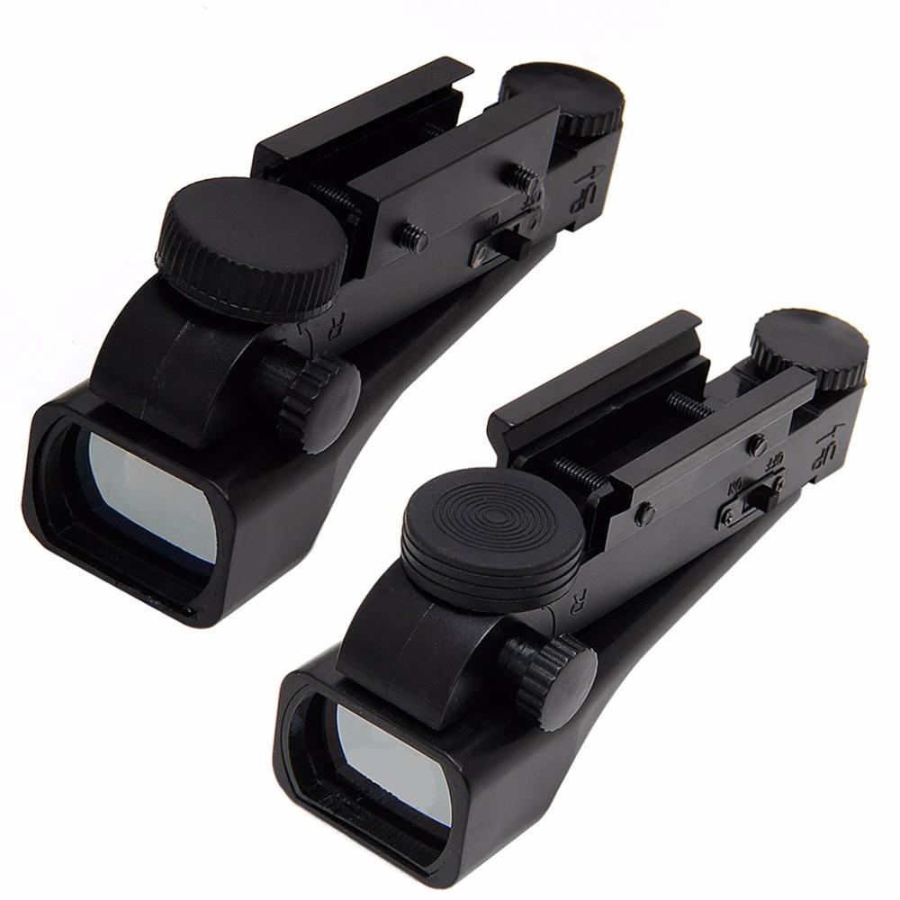 Tactical 1x20x30 Reflex Red Dot Wide View Sight Scope 10/20mm Weaver Rail Mounts