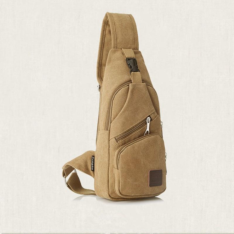 5 Colors Sling Vintage Bag Canvas Chest Pack Men Messenger Bags Travel Fanny Flap Male Small Retro Single Shoulder Strap Gym Bag