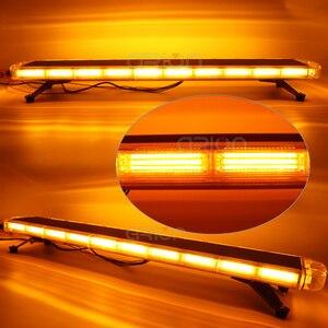 "Image 2 - 47"" COB LED Car Roof Flashing Strobe Emergency Light Bar DC 12V 24V Truck Police Fireman Warning Lights LightBar Amber"