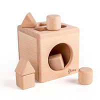 Wooden Geometry Shape Block Matching Box Learning Educational Toys for Children Montessori Materials Funny Bricks Kids Toy