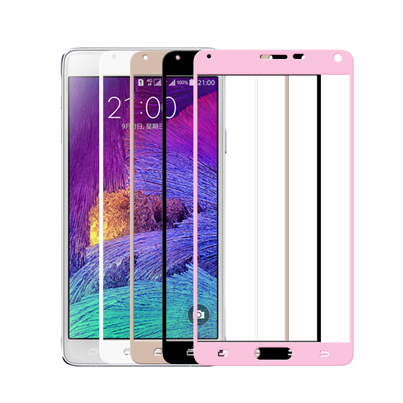 Full Cover Tempered Glass For Samsung Galaxy Note 8 5 4 Screen Protector Protective Film Color White Golden Black Rose