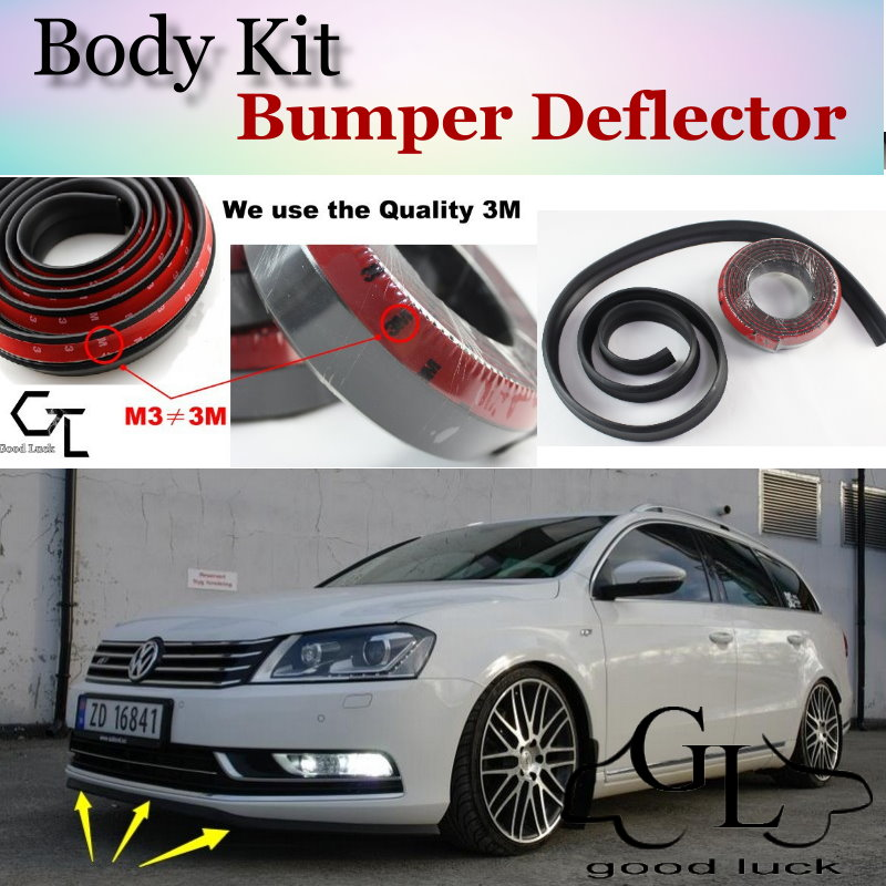Bumper Lip Deflector For Volkswagen VW Passat Dasher Quantum Santana Corsar Magotan Carat Front Spoiler Skirt / Body Kit / Strip|front lip kit|spoiler lip|front bumper spoiler -