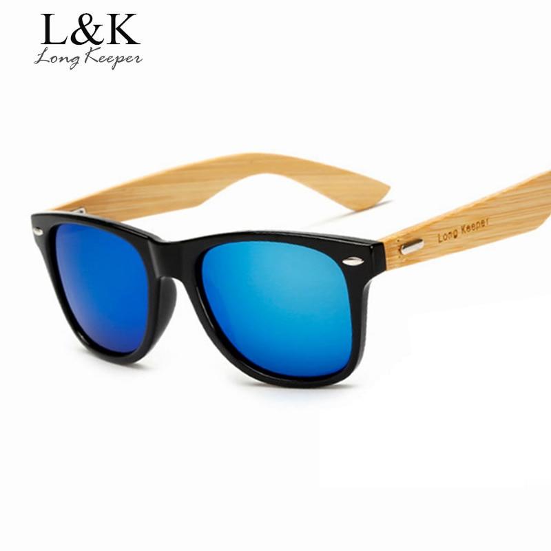 Long Keeper ბრენდის დიზაინი ბამბუკის იარაღი სათვალე მზის სათვალეები მამაკაცის რთველი ხის სათვალე ქალები რეტრო მზის შუშის ასოები Gafas De Sol