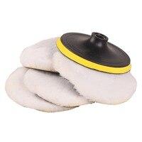 SPTA 7 Inch 180mm Soft Wool Clean Polishing Buffing Bonnet Pad For Car Auto Polisher