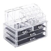 Portable Acrylic Clear Makeup Organizer Storage Box Make Up Organizer Cosmetic Organizer Makeup Storage Drawers Organizer