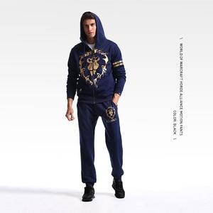 Image 5 - TEE7 メンズスウェットパンツゲーム WOW 部族永遠エンブレム綿カジュアル大群コスプレ衣装男性黒プリント高品質のズボン