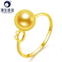 Лет 18 К Solid Gold 7,5 8 мм оригинальный японский Akoya кольцо Обручение