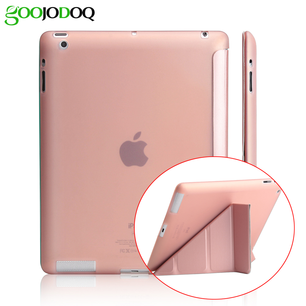 Case For iPad 2 / iPad 3 / iPad 4 Case Silicone Soft Back PU Leather Smart Cover for Apple iPad 4 Case Multi-angle Stand full body protective silicone tpu soft back pu leather case for apple ipad 2 3 4 cover flexible magnetic slim flip smart case