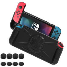 Protective Case for Nintend Switch NS, Hand Grip Cover Shell W/ Wristband Shock-Absorption Anti-Scratch Stand Cradle Game Store все цены