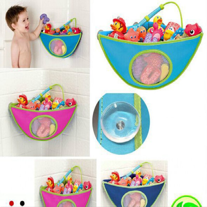 Children's Water Toys Storage Bag Boys &Girls Waterproof Bath Toy Storage Bathroom Baby Bathing Hanging Container Mesh Fun Toys
