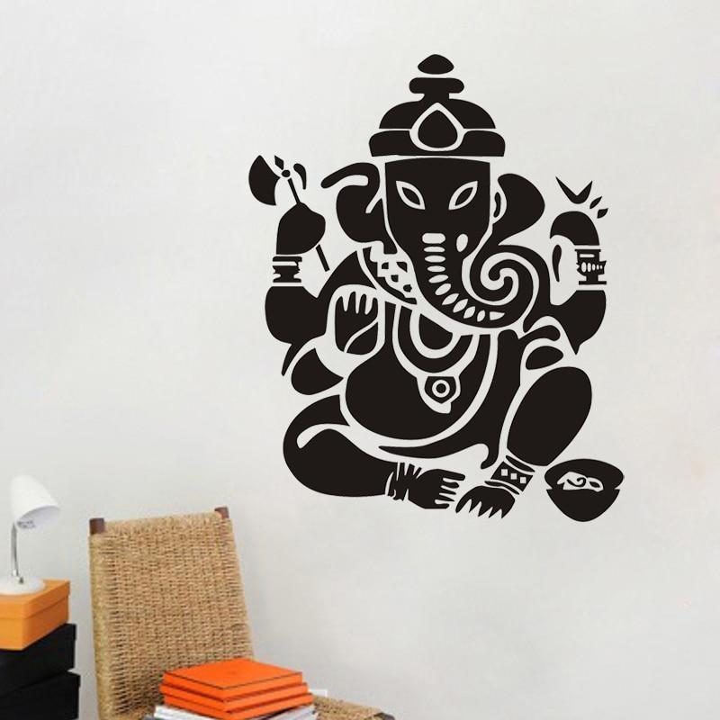 JJRUI Buddhisme India Ganesha Lord Veggklistremerker Yoga Buddha - Hjemmedekorasjon - Bilde 3