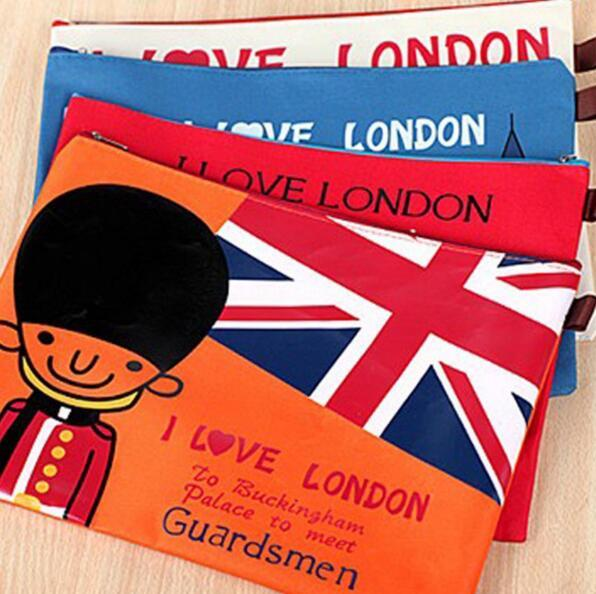 1 шт. мешок застежки-молнии школы папки бумаги папка организатор должностное лицо документов сумка лондон файл папка fichario бесплатная доставка
