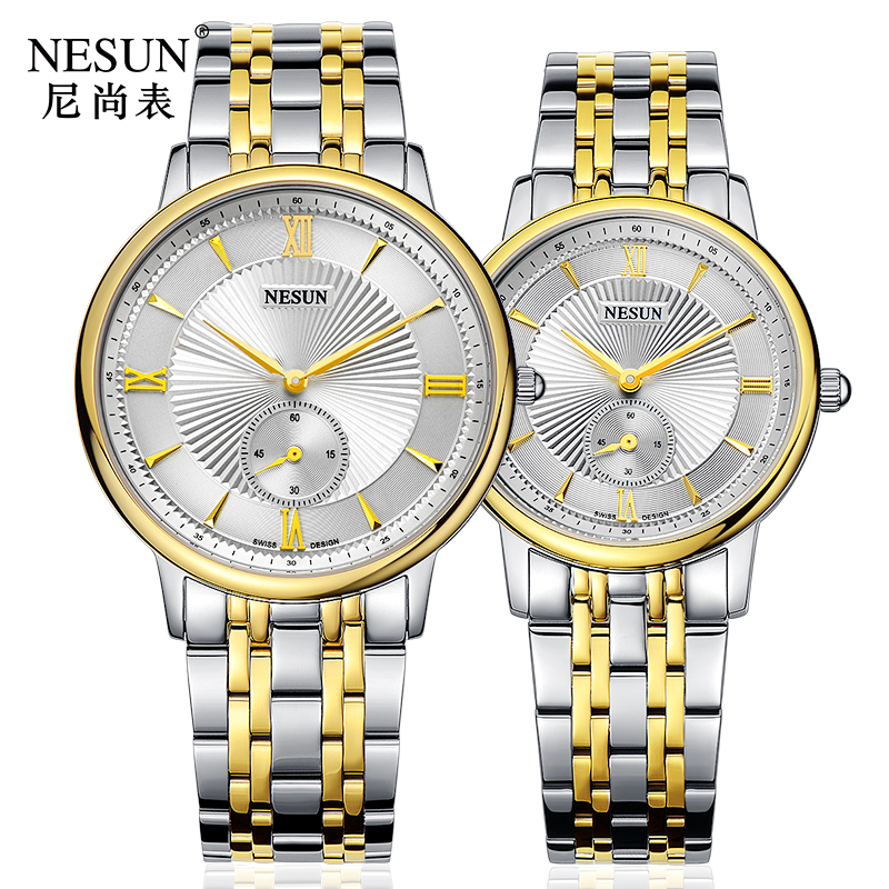 Nesun Switzerland Luxury Brand Watch Men Japan MIYOTA Quartz Movement Lover's Watches full Stainless Steel Women clock N8501-SL3