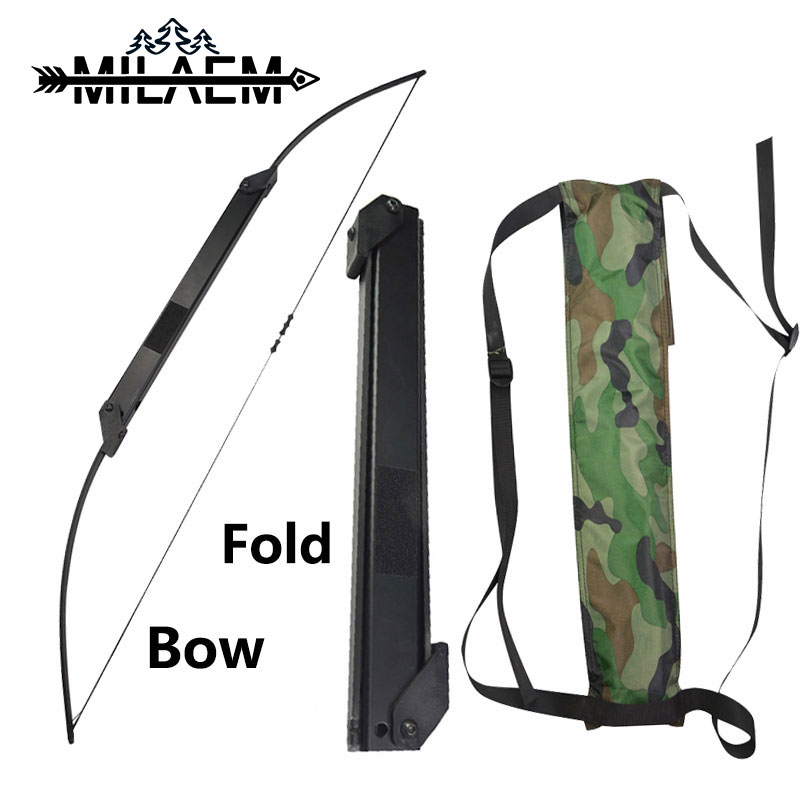 1pc 30 50lbs Archery Recurve Bow Straight Bow Portable Fold Bow Teens Shot Training Bow Outdoor