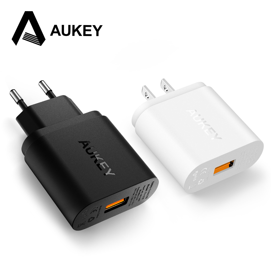 AUKEY Quick Charge 2 0 Mobile Phone Charger 18W USB Wall Charger Smart Fast Charging For
