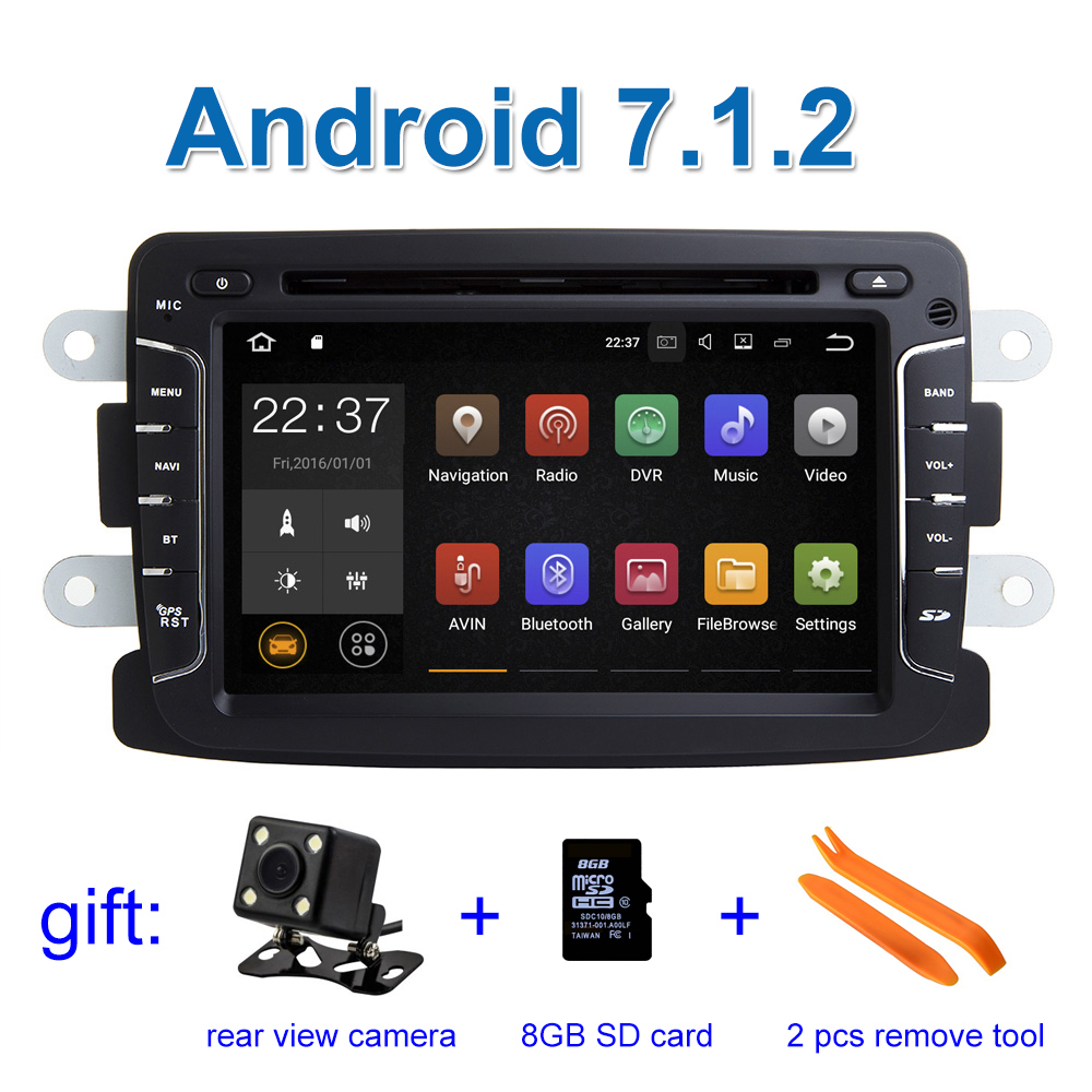 2GB RAM Android 7.1 Car DVD Player GPS for Dacia Sandero Renault Duster Captur Lada Xray 2 Logan 2 with WiFi Radio BT