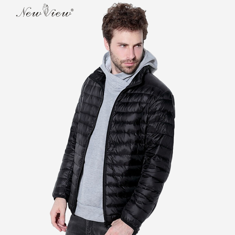 2017 NewView Winter White Duck Down Jacket Male Stand Collar Slim Coat Parka Casaco Hombre Plus Size Jacket Men Brand Clothing