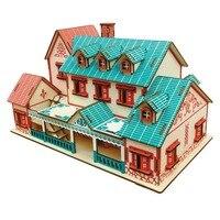 DIY Kids 3D Puzzles geometric wooden toys cognition puzzle Assembling Building Kits IQ Educational Toys for Children