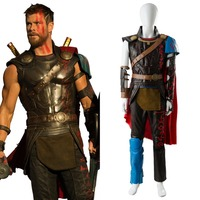 Thor 3 Ragnarok Cosplay Costume Thor Adult Loki Costume Outfit Whole Sets Halloween Carnival Cosplay Costume