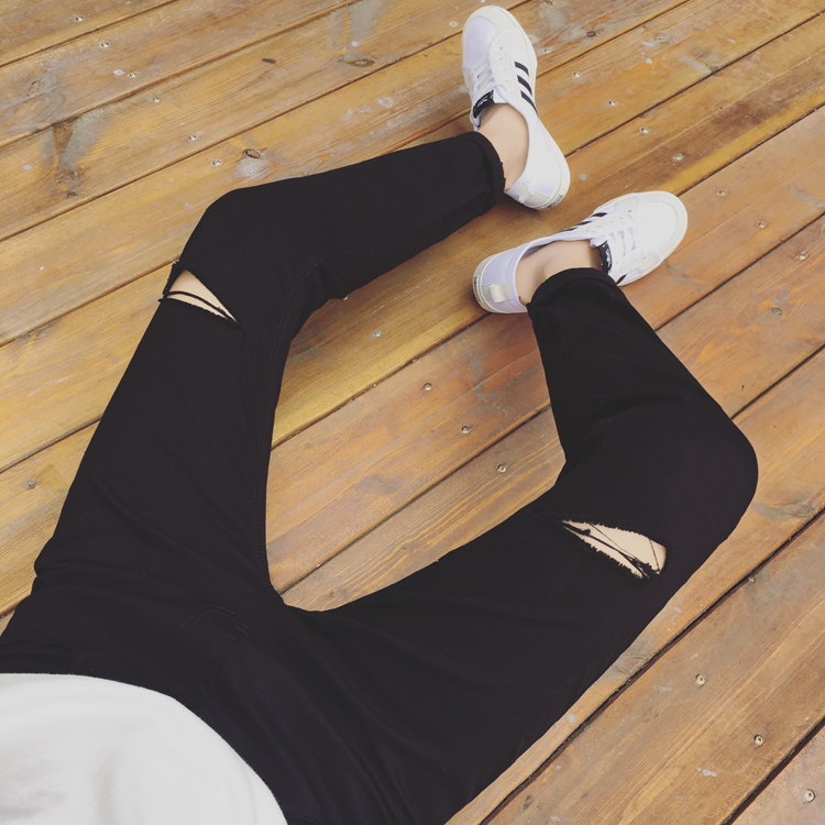 2017 Autumn Outfit, New Men And Women, Lovers, Leisure, Self-cultivation, , Cowboy Nine Points Pants