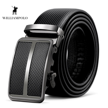 Williampolo 2019 Mens 100% Cow Genuine Leather Belt Automatic Buckle High Quality Luxury Male Drop Shipping LP038P