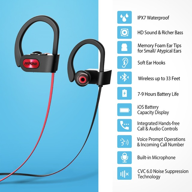 Waterproof Noise Cancelling Headphone with Bluetooth