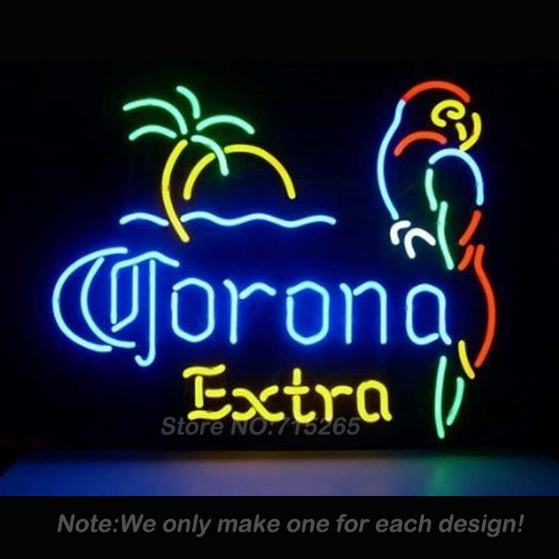 Neon Sign Corona Extra Parrot Neon Light Sign Glass Tube