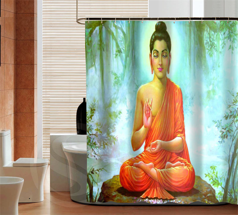 Fashion Buddha High Quality Custom Shower Curtain Bathroom Decor Various  Sizes Free Shipping MORE SIZE SQ0427