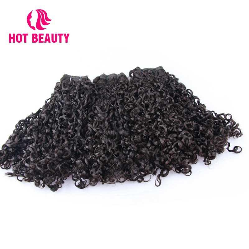 Hot Beauty Hair Brazilian Virgin Hair Extension Funmi Kinky Curly 100% Human Hair Bundles 8-20 Inch Natural Color Weave Bundles